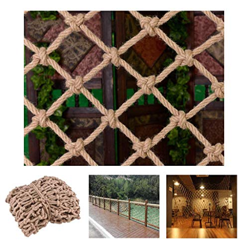 Buy HWJ Children's Outdoor Climb Nets Stair Protection Nets Photo Decorative Wall Nets Ceiling Nets Child Safety Nets Fall Prevention Nets Vintage Decorations Hand-Woven (Size : 3x5m/9.84×16.4ft)