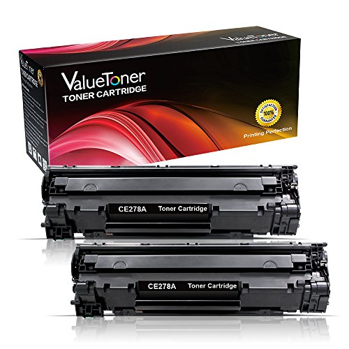 ValueToner Compatible Toner Cartridge Replacement for Hewlett Packard CE278A (HP 78A) 2 Toners Compatible with Laserjet P1566, Laserjet Pro M1536dnf, Laserjet Pro P1606dn Printer