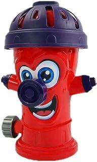 El Rociador De Agua Hidrante para Niños, Se Conecta A La Manguera De Jardín Estándar Y Los Aerosoles De hasta 8 Pies De Altura, El Rociador De Hidrante contra Incendios Verano Splash Outdoor Toy,Rojo