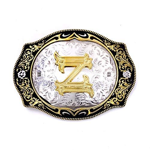 Cool Native American Letter Z Belt Buckle For Men Golden Tone