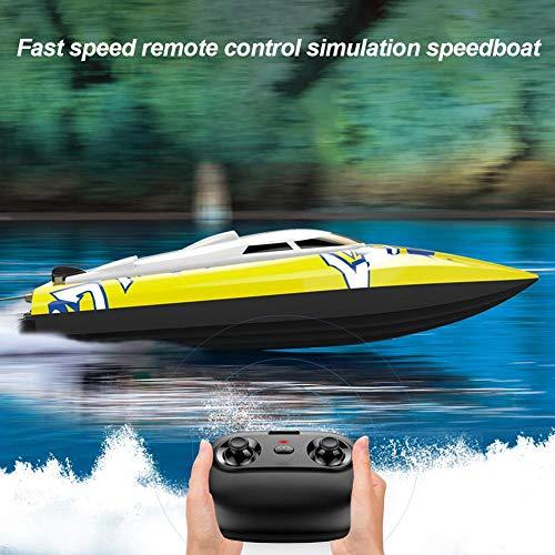 Easy-topbuy RC-Boot Schnelle Geschwindigkeit RC-Boot 15-20 Km/H, Langlebiges Ferngesteuertes Boot Elektrospielzeug Für Jungen, Routenkorrektur/Intelligente Fernbedienung