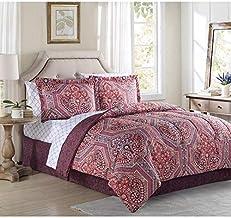 Ellison Alden Comforter Set, Queen Red Bed in a Bag