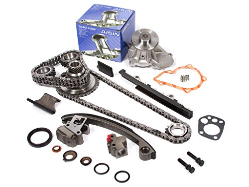 Evergreen TK3003WPA Compatible With Nissan KA24DE DOHC 16V Timing Chain Kit w/AISIN Water Pump