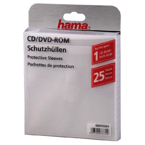 Hama CD/DVD-Leerhüllen selbstklebend 25 Stück