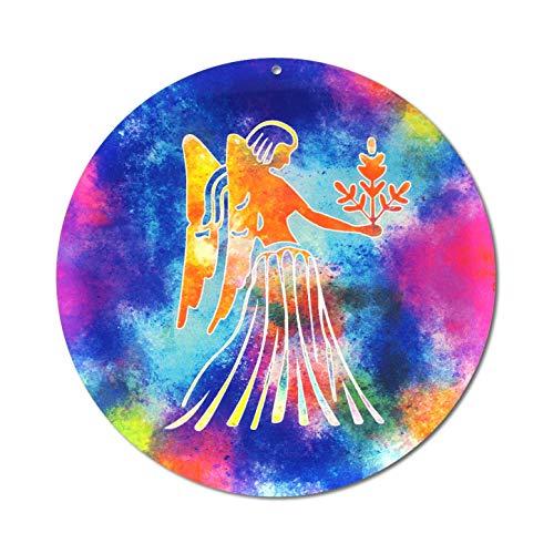Sternzeichen Jungfrau Nr. 08. Ø 15cm Glasbild Aufhänger Fensterbild bruchsicheres Acrylglas Sonnenfänger Astrologie Blickfang Geschenk Dekoration Fenster - EINWEG Verpackung -