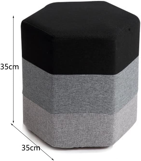 WLL- Creative canapé banc chaussures tabouret en tissu chaussures de tabouret (35x35cm) (Color : Brown) Black