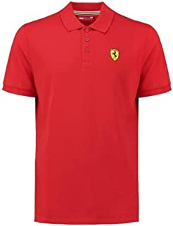 Scuderia Ferrari Men's Classic Polo Shirt Red