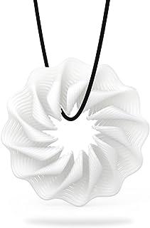 حزمة من 2، إكسسوارات قلادة مجوهرات دوكولر تومفيل ثلاثية الأبعاد مطبوعة بنمط أنيق وقلادة مجوهرات