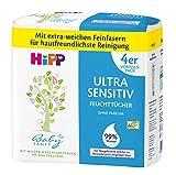 HiPP Babysanft Feuchttücher Ultra Sensitiv, weiß, 3er Pack (3 x 4 x 52 Stück)