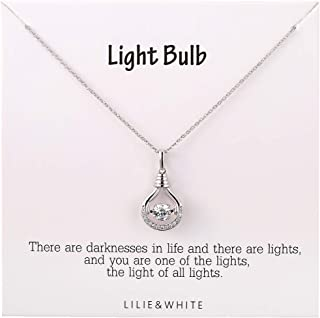 LILIE&WHITE Turkish Evil Eye Pendant Cubic Zircon Necklace Platinum Plated Lucky Jewelry for Women and Girls