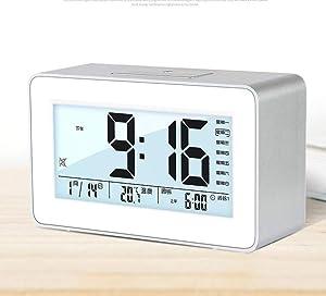Réveil Réveil Créatif Étudiants avec Chevet Silencieux Simple Intelligent Horloge Électronique Multi-Fonction Enfants 'S Musique Numérique Big Sonneries