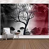 Native Purity - Tapiz de árbol de la vida para colgar en la pared, tapiz de cama, boho, boho, naturaleza, paisaje, manta de playa para dormitorio, sala de estar, dormitorio, 150x130cm