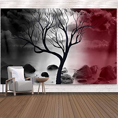 Tapiz de árbol de la vida de pureza nativa tapiz de cama tapiz de paisaje bohemio manta de playa para dormitorio decoración de pared de sala de estar 150x130 cm