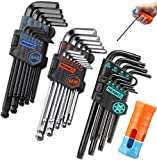 REXBETI Hex Key Allen Wrench Set, SAE Metric Star Long Arm Ball End Hex Key Set Tools, Industrial Grade Allen Wrench...