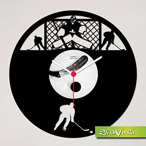 Gravinci.de Schallplatten-Wanduhr Eishockey 2.0