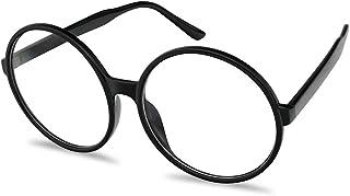 9afa1bc47faaf Vintage Inspired Round Super Oversized Clear Lens Fashion Eye Glasses  Non-Prescription