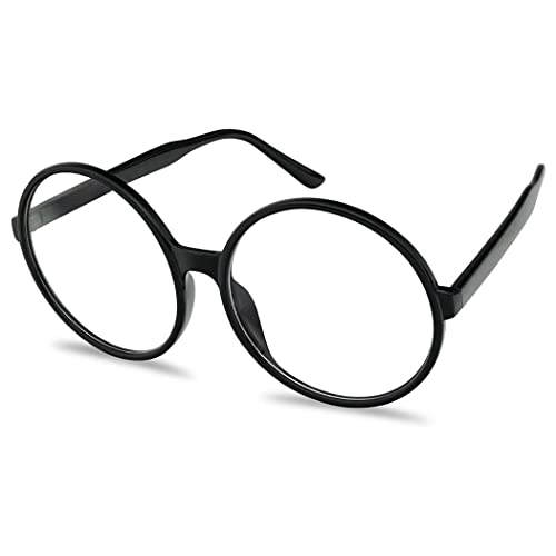 74ebab701b2 Vintage Inspired Round Super Oversized Clear Lens Fashion Eye Glasses Non- Prescription