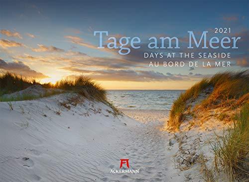 Tage am Meer Kalender 2021, Wandkalender im Querformat (45x33 cm) - Landschaftskalender / Naturkalender, Deutschlands Küsten und Strände