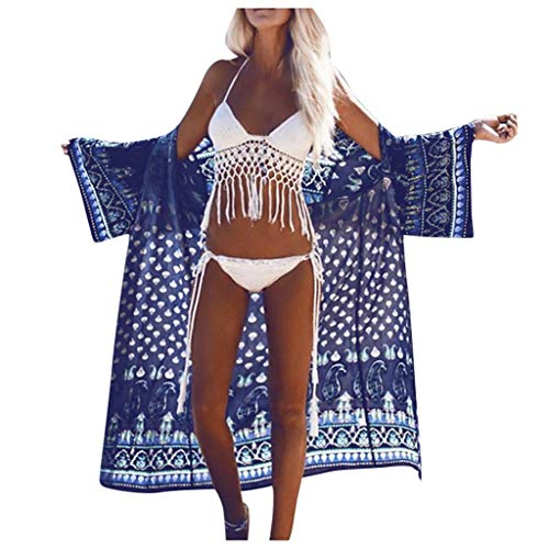 ZZZXIAN dames lange zomer boho strand kimono cardigan blouse bloemen tops bikini cover up grote gebreide jas outwear