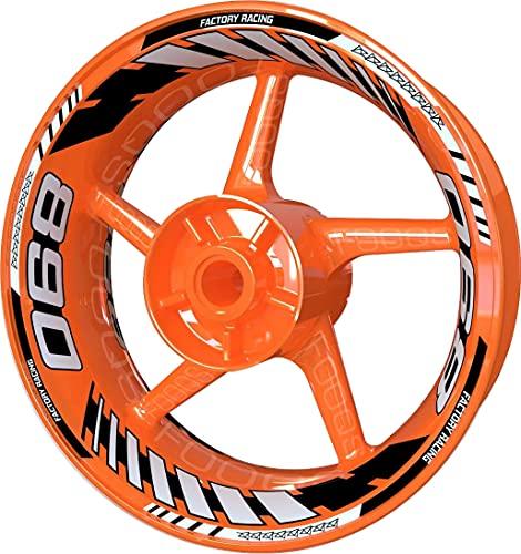 Adhesivo para llanta de moto F2 para KTM 890 (plateado)