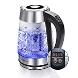 Aigostar Cris – Bollitore elettrico in vetro borosilicato, 2200W, 1,7 litri. Controllo della...