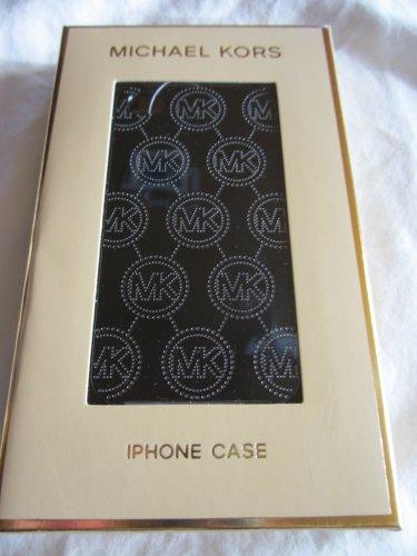 Michael Kors Monogram Embossed Metallic Navy Blue Iphone Phone 4 4s Hard Case New in Box