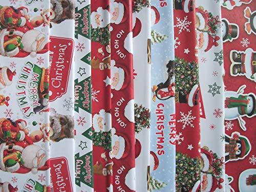 20 fogli di carta da regalo natalizia per bambini, Babbo Natale, pupazzo di neve, pinguino