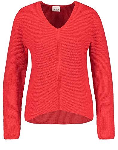 Taifun Damen 472027-15308 Pullover, Rot (Lipstick Red 6070), Medium (Herstellergröße: M)