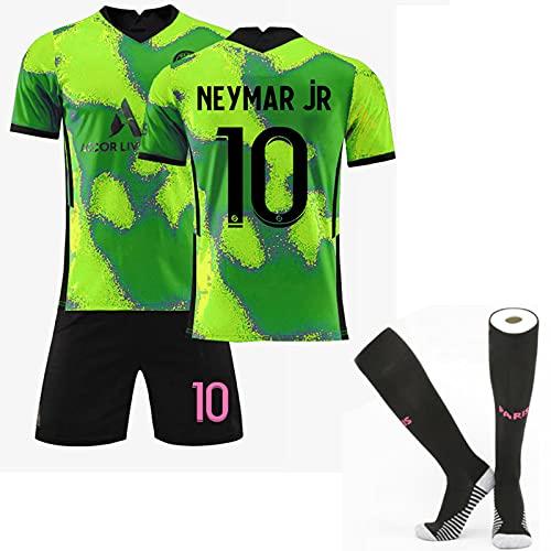 HRZHYHB Paris Away Game Football Jersey No. 7 Mbappé 10# Neymar 11# Di Maria 20-21 Champions League Home Conjunto de Camiseta Unisex
