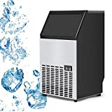 USzon Built-In Stainless Steel Commercial Ice Maker Portable Ice...
