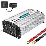 インバーター 12V 正弦波 2000W コンバーター 55Hz DC12VをAC100Vに変換 LCDディスプレイ及びリモコンつき 2.4AのUSBポート 2口のACコンセント GIANDEL