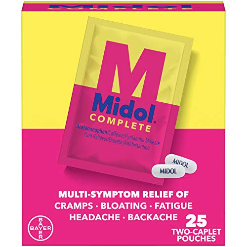 Midol Complete Caplets with Acetaminophen for...