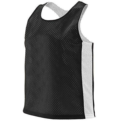 Augusta Sportswear 968.420.S/M Women's Reversible Tricot Mesh Lacrosse Tank, Black/White, Small/Medium Pack