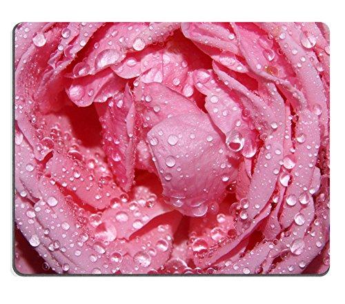 luxlady Gaming Mousepad Closeup de gotas de lluvia en un bonito color rosa imagen ID 4942551