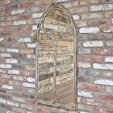 Melody Maison Espejo rústico para ventana (56 x 122 cm)