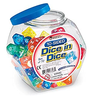 Learning Resources 10-Sided Dice in Dice Set (B0018M0ILK) | Amazon price tracker / tracking, Amazon price history charts, Amazon price watches, Amazon price drop alerts