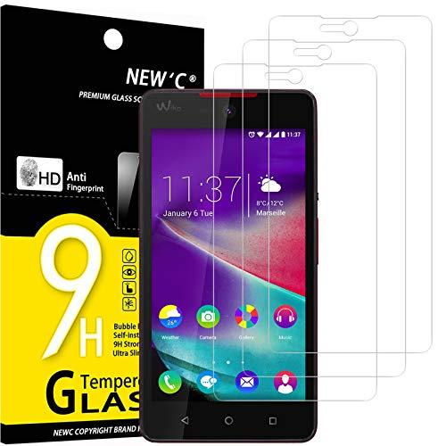 NEW'C 3 Stück, Schutzfolie Panzerglas für Wiko Rainbow Lite 4G, Frei von Kratzern, 9H Festigkeit, HD Bildschirmschutzfolie, 0.33mm Ultra-klar, Ultrawiderstandsfähig