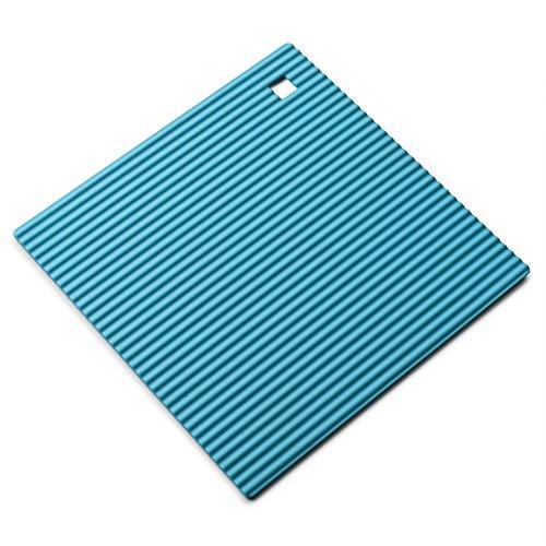 Zeal Dessous de Plat en Silicone antidérapant et résistant à la Chaleur 18 cm, Silicone, Bleu Eau, 7-inch