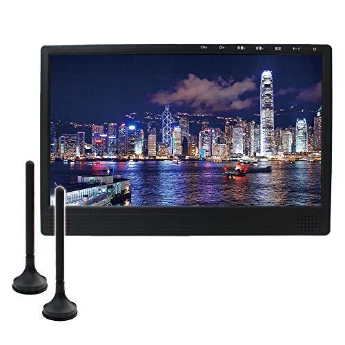 ドリームメーカー フルセグ カーテレビ 13.3インチ フルセグ 2チューナー 2アンテナ HDMI 家庭用ACアダプター アンテナケーブル付属 「TV133A」