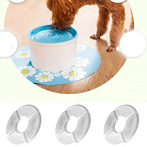 Katoot 4Pcs/lot Activated Carbon Charcoal Filter for 1.8L LED Automatic Cat Dog Water Drinking Fountain Pet Bowl Drink Dish Filter