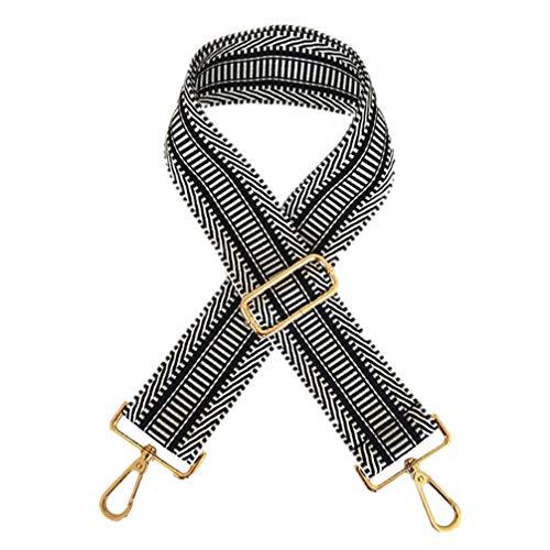 TENDYCOCO Shouolder tas riem met gesp verstelbare schoudertas riemen vervanging koppeling portemonnee riem voor meisjes dames vrouwen 130 * 5.2CM Zwart