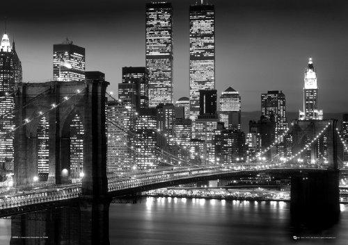 GB EYE LTD 3D Linsenraster-Poster New York Skyline, schwarz/weiß, 47 x 67 cm