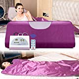 VANELL Large Sauna Blanket Infrared, Digital Far Infrared Heat Blanket Body Sauna Heating, Portable Wrap Home Sauna Blanket W/50pcs Plastic Sheetings Weight Loss Home Beauty Noble-Plum