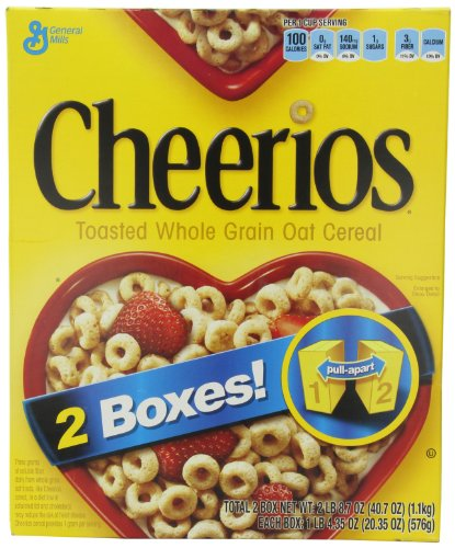 General Mills Cheerios Toasted Whole Grain Oat Cereal, 20.35
