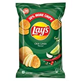 Unleash your playful side with a delightful rendezvous between wicked chillies and naughty limons From the everyday snack to the impromptu get-togethers, lay's chips are the perfect addition to any occasion 100% Vegetarian, quality potatoes, finest q...