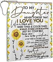 私の娘へのひまわりは私があなたを愛していることを決して忘れませんシャワーカーテン、バスルームのカーテンの装飾のためのポリエステル防水ファブリックバスタブセットフック付き72 X72インチ