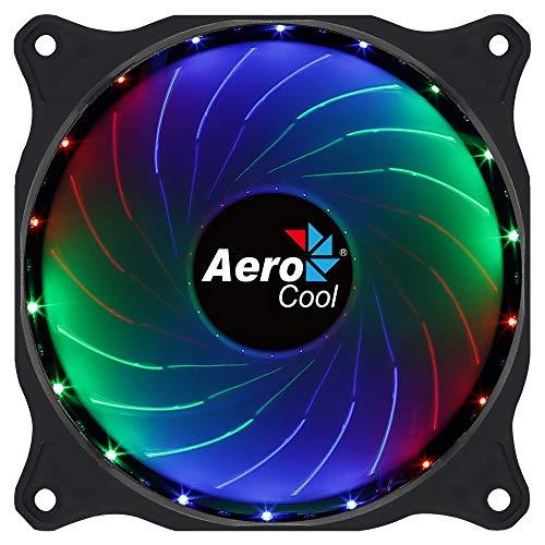 Aerocool Cosmo - Ventilador 12 cm conector Molex, Iluminación LED RGB fija