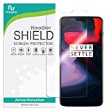 RinoGear Screen Protector for OnePlus 6 Case Friendly OnePlus 6 Screen Protector Accessory Full Coverage Clear Film