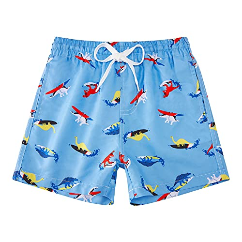 Idgreatim Kleine Jungen Badeshorts Sandstrand Swim Shorts Strandshorts Joggen Dinosaurier Trainieren Freizeithose Shorts Hose