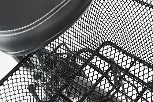 """Fischer Fahrradkorb """"School"""" I Gepäckträger-Korb I Fahrradkorb hinten I Hinterradkorb I 25kg Tragkraft I schwarz - 3"""